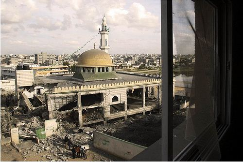 Palestinian mosque destroyed by Israel